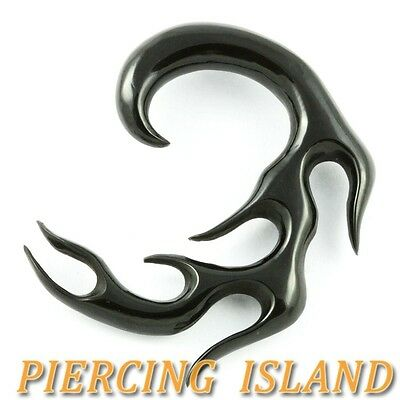 Spiral 312 earrings tunnels plugs ear horn gauges (single earring) piercings