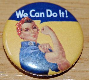 034-WE-CAN-DO-IT-034-ROSIE-THE-RIVETER-25MM-BADGE-FEMINIST-RETRO-WWII-FEMINISM