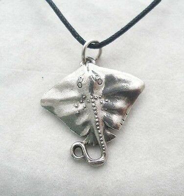Stingray Pendant in Fine English Pewter, Handmade, Manta Ray