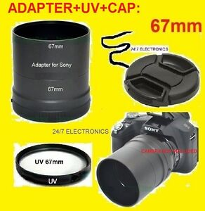 CAMERA-LENS-ADAPTER-TUBE-DSC-HX200-UV-CAP-67mm-for-SONY-Cyber-shot-DSC-HX200V