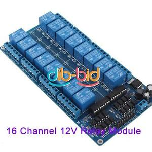 16 Channel 12V Relay Module Interface Board For Arduino PIC ARM DSP PLC