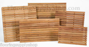 Image Is Loading Bathroom Shower And Anywhere Solid Teak Wood Mat