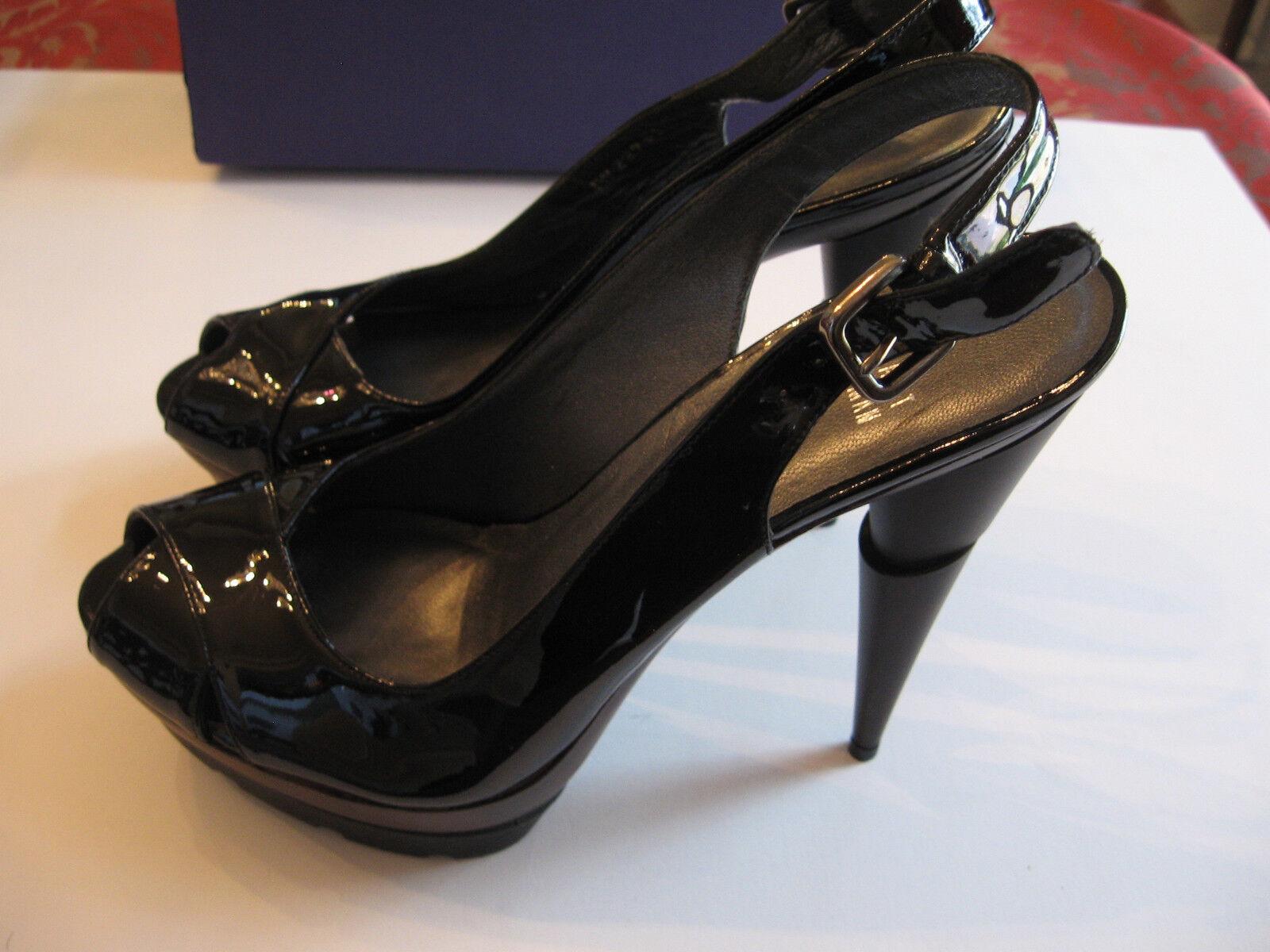NEW STUART WEITZMAN noir PATENT LEATHER STILETTO LADIES chaussures  Taille 8 M