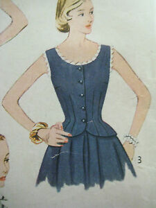 Vintage Simplicity Women 3777 LOVELY FITTED BLOUSE Sewing Pattern Sz 14/32