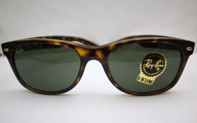 New Ray Ban Wayfarer Sunglasses Tortoise G-15 Lens RB2132 902L 55 $130