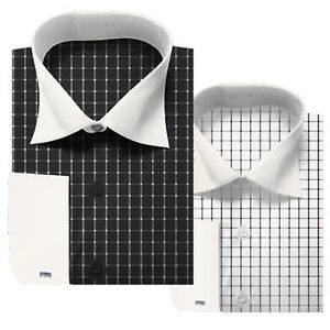 Men-039-s-Milano-Stylist-Clean-Contrast-Color-French-Cuff-Dress-Shirt-206