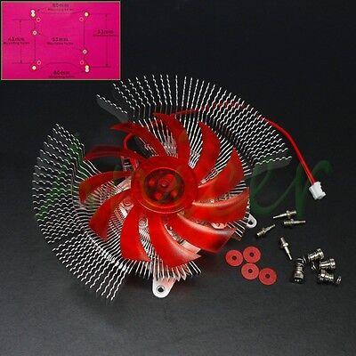 PC VGA Video Card Cooler Cooling Heatsink Fan For NVIDIA ATI Multi Size Hole