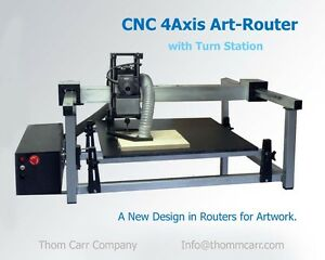 CNC-4-Axis-Art-Router-with-Turn-Station-and-PC-with-Software