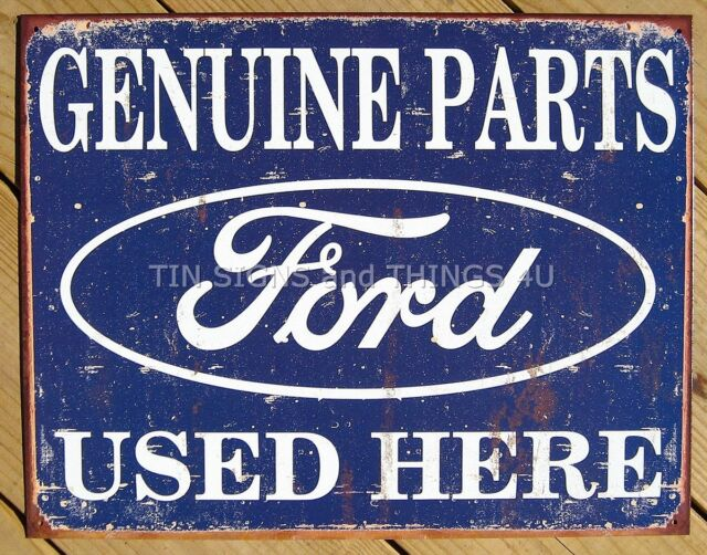 Ford Parts Used Here TIN SIGN vintage garage rustic metal poster 1422 (#AUC#)