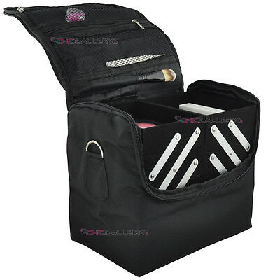 BEAUTY BOX BLACK MAKEUP COSMETIC NAIL TECH BAG CASE 340