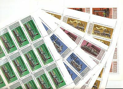 USSR 1978...n° 4473-77...MNH ** ..YT 45€...LOCOMOTIVES (5 SHEETS)
