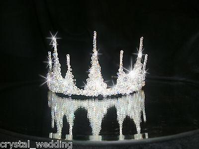 Crystal tiara bridal head wear              Scroll down to see video