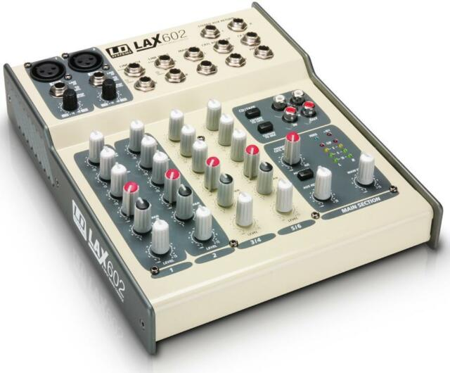 LD-Systems LAX-602 6 Kanal Mixer mit AUX Return LD-System LAX602 Mischpult