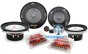 SAC525-SWISS-AUDIO-3-WAY-COMPONENT-SPEAKERS-5-25-034-amp-4-034-MIDS-by-AUDIOBAHN-NEW