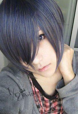 Black Butler Ciel Kuroshitsuji Phantomhive Short Cosplay Wig mixed color