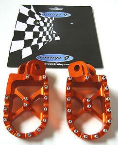 Warp-9-Billet-Footpegs-Foot-Peg-Orange-KTM-SXF-XC-XCF-EXC-SX-125-250-300-350-530