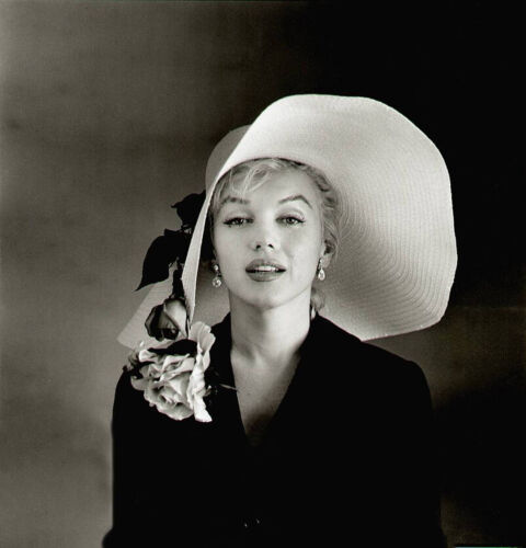 MARILYN MONROE BIG HAT 8 x 10 PHOTO SENSUOUS POSE PICTURE