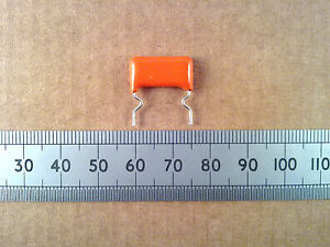 Metallised-Polyester-368-Capacitor-10-400V-Orange-Drop-Plastic-Film-Cap