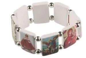 Jesus-Saints-Icon-Religious-Catholic-WHITE-Bracelet