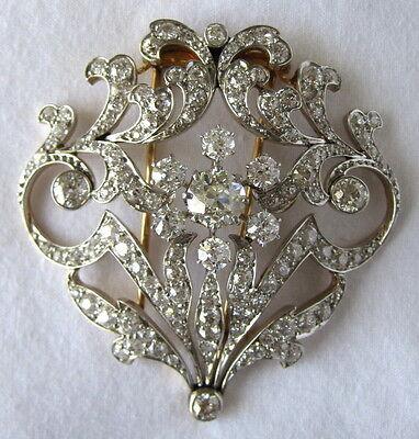 Edwardian Platinum & Diamond Brooch