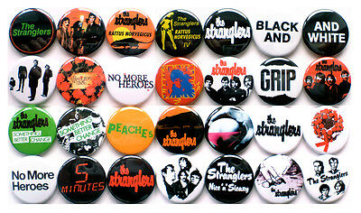 The Stranglers 1977-1978 Badge Set - 28 Quality Pin / Button Badges (Punk)