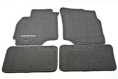 2002-06 GENUINE MITSUBISHI LANCER CARPET FLOOR MATS BLACK ALN02XFB01 MZ312876