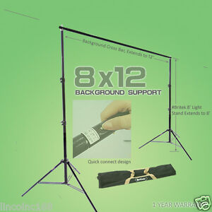 8'x12' Background Support Stand Photo Backdrop Light kit Photography Studio