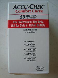 Accu Chek Comfort Curve Blood Glucose Diabetic Test Strips