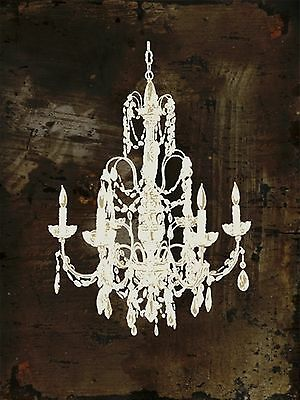 Bronze Chandelier Metallic Canvas Wall Art Picture Large Size 60cm x 80cm
