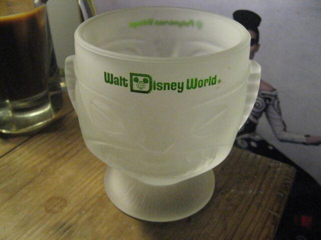 Walt Disney World Polynesian Village Florida Tiki Totem Glass Cocktail Cup Vase
