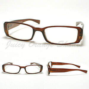 image is loading small rectangular eyeglass frames brown simple classic casual