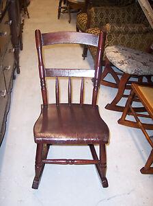 Solid-Cherry-Slab-Seat-Sewing-Rocker-or-Granny-Rocker-R99