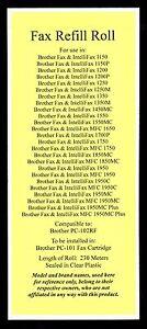 Fax Cartridge Refill Film Roll for Brother 1250M 1350 1350M 1450MC Intellifax