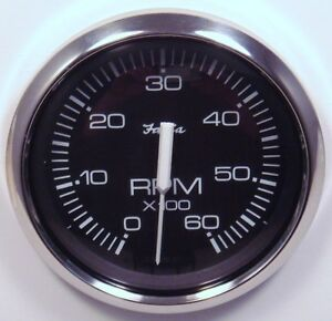 faria chesapeake stainless 6k inboard boat tachometer tach. Black Bedroom Furniture Sets. Home Design Ideas