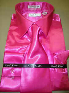 Mens Karl Knox Shiny Fuchsia Hot Pink Silky Satin Formal Dress ...