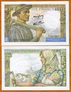 France-10-francs-1944-Pick-99-99e-WWII-Gem-UNC