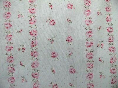 Yuwa Romantic Chic Vintage Dancing Wallpaper Stripe Pink Roses Fabric by the Yd