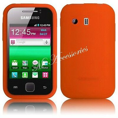 NEW SILICONE CASE COVER SKIN FOR SAMSUNG GT-S5360 GALAXY Y + FREE SCREEN GUARD
