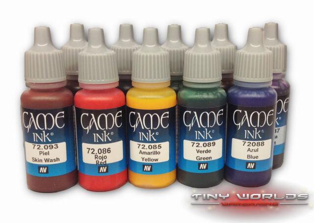 Vallejo Game Colour Inks 17ml - Choose any Pot - Wargames Model Color Wash Ink