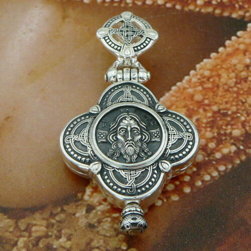 STERLING SILVER .925 RELIQUARY CROSS