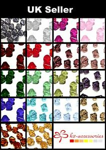 200-x-4mm-100-x-6mm-50-x-8mm-Crystal-Glass-Bicone-Beads-Assorted-Mixed