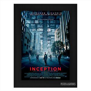 INCEPTION-Framed-Film-Movie-Poster-A4-Black-Frame