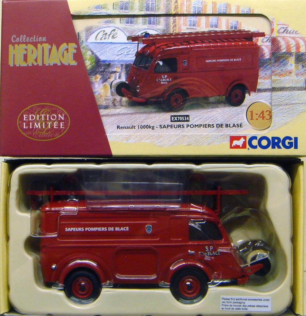 CORGI EX70534 1 43 FRENCH HERITAGE Renault 1000Kg Sapeurs Pompiers de Blase
