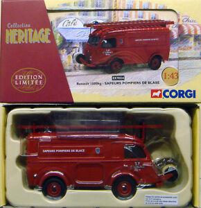 Corgi-EX70534-1-43-frances-patrimonio-Renault-1000-kg-SAPEURS-POMPIERS-DE-Blase