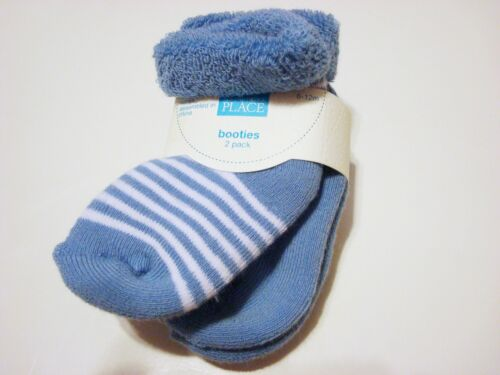U PICK COLOR NWT Baby Boy TCP Childrens Place BOOTIE//SOCKS 2 pair pack Stripe