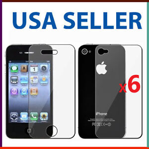 12X-CLEAR-FULL-BODY-Screen-Cover-Shield-Protector-FRONT-BACK-iPhone-4-4S-4G