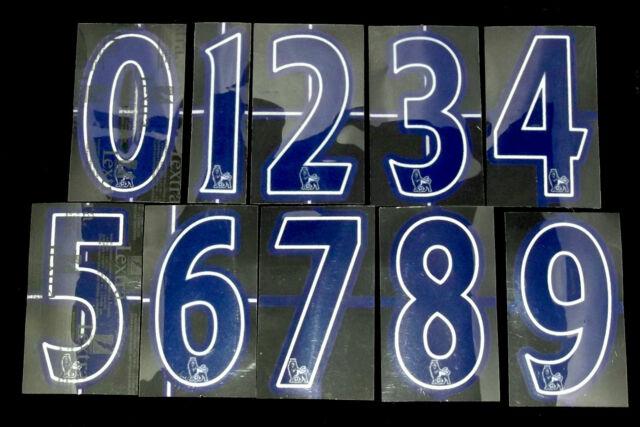 Premier League 2007/12 Blue Lextra Senscilia Football Short Numbers 0-9
