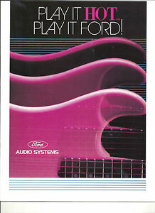1989-FORD-CAR-TRUCKS-AUDIO-SOUND-SYSTEMS-BROCHURE-MUSTANG-THUNDERBIRD-F150
