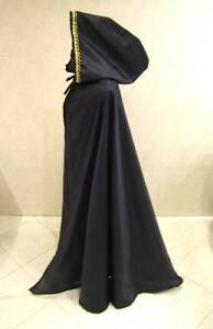 MEDIEVAL-BLACK-CLOAK-CAPE-DRESS-COSTUME-GOTH-WITCH-VAMPIRE-VICTORIAN-FANCY-ROBE