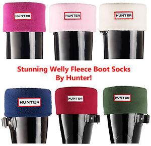 Hunter-Womens-Mens-Unisex-Fleece-Warm-Wellingtons-Welly-Boots-Socks-Size-3-11-UK